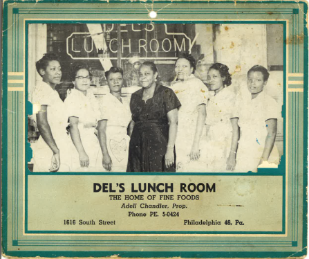 1955, South Philadelphia Adell Edith Chandler, owner (center)