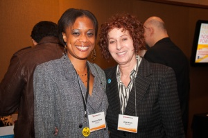 Independent Voting activists Natesha Oliver and June Hirsh (r) at the National Conference of Independents, March 2015