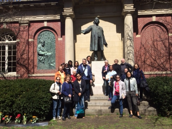P4P NYC members and friends visit Plymouth Church in Brooklyn. Photo: June Hirsh