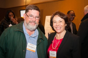 Patrick McWhorter with Nancy Ross of Independent Voting