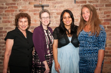 Juliana Francisco (2nd from R) with her mother (r), Cathy Stewart and Harriet Hoffman (l) at the 2015 New York City Independence Clubs' Anti-Corruption Awards